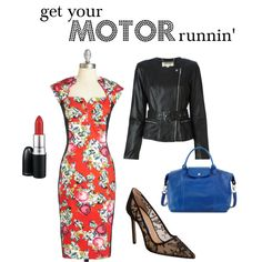 Spring & summer outfit idea for women over 40. Over 40 fashion. Inspiration for stylish women over 40. Featuring florals and black.