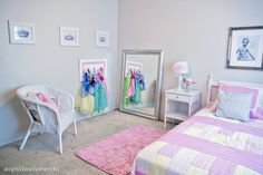 Princess Dressing Area (Little Girl's Room Details) - Yellow Bliss Road