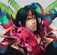 I didnt play league back when Taric was reworked but this skin became my crush the moment i saw it 🥺🥺 Swain Lol, Dibujos Dark, Fan Picture, Lol League Of Legends, Character Design, Comic Books, Fan Art, In This Moment, Anime