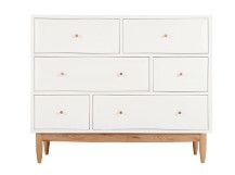 Willow Chest of Drawers, Oak and White