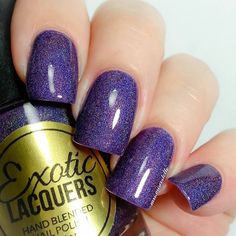Full Swatch of Purple Rain from @exoticlacquers this is 2 coats and high gloss top coat also from @exoticlacquers  #exoticlacquers #indieswatch #itrustindiepolish #purplerain #nailitdaily #nailartpromote #nailpromote #showmynails #mrsmiscostello #nailprodigy #polishlicious #lovelyandpolished #girlynailsdeluxe #swatchoftheday #nailswatch #nails4yummies #nailstagram #nails2inspire #nailmagazine #nailpromagazine #craftyfingers #polishednails #iwanttoswatchforyou #trendynails by mrs.miscostello