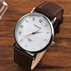 Gofuly 2016 New Luxury Leather Strap Fashion Casual Round Dial Men Quartz Watches Relojes Male Relogio Masculino Wristwatches Leather Watch Box, Classic Leather, Business Fashion, Stainless Steel Bracelet, Quartz Watch, Watches For Men, White Watches, Men's Watches, Fashion Watches