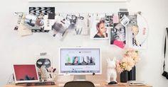 MDF+ Cavalete + tudo preto no branco = muito amor Mini e com charme nos mínimos detalhes (o quadro/mural dá o toque de personalidade) Mini e quadros e um toque de cor Suave e feminino Gostei do detalhe das fotos entre o vidro e a madeira Simples e eficiente Espaço de trabalho duplo e sem […]
