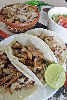 Carnitas fáciles, más saludables y sin tanta grasa {en la olla de cocción lenta-crockpot} – www.pizcadesabor.com