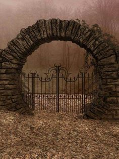 UNRESTRICTED - Autumn Gate Background by frozenstocks on DeviantArt MZLoweRPP verified link on Source: frozenstocks. Artist: Andreea C Artist's Title: Autumn Gate Background Portal, Moon Gate, Garden Gates, Abandoned Places, Abandoned Houses, Architecture, Belle Photo, Old Houses, Arches