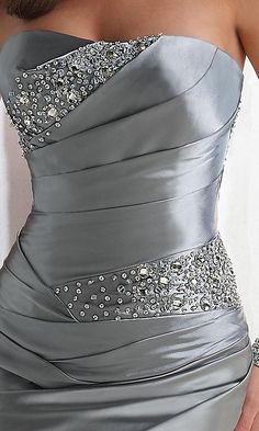 Grey sparkle dress