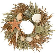 GRAND BAHAMA WREATH - SEASHELL WREATH - NAUTICAL - COASTAL - OCEAN - SHELL