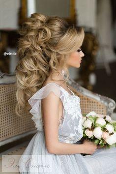 Coiffure De Mariage : Featured Hairstyle:Elstile;www.elstile.ru; Wedding hairstyle idea.