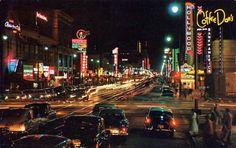 Los Angeles at night, 1950s