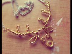☆DIY Wire Deer Necklace☆ - YouTube