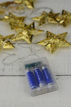 Gold Star LED Battery Op.,6' String Lights Warm White 10ct