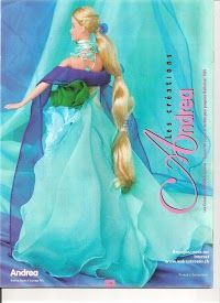 Free Barbie Clothes Patterns - in a different language; click on the cover; it will take you through the entire book; some patterns are repeats of a previous pin but there are also several new outfits.