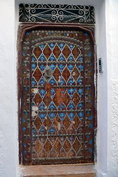 Africa | 'Beautiful door'. Tangiers, Morocco © Pierre Nordström