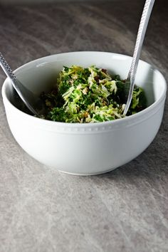 Sugar and Grace: Kale and Brussels Sprouts Salad w/ Bacon and Pecorino