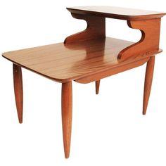 Danois moderne TABLE étape mi siècle fin côté eames era 2 niveaux brutaliste en…