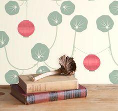 Chochin Wallpaper, Goji, Rollx2 - Contemporary - Wallpaper - Grow House Grow