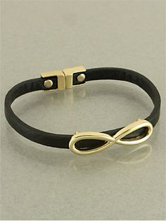 Black Jenni Infinity Bracelet