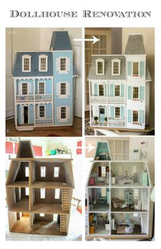 A series of posts about the renovation of the used, damaged dollhouse I bought for $30.  See: The Evolution of the Dollhouse Series Parts 1 - 6