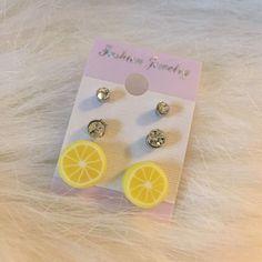 Fruit Slice Earring Set