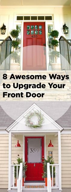 8 Awesome Ways to Upgrade Your Front Door-front door renovations that you will love.