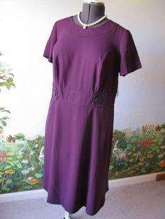 East 5th Purple Short Sleeve Women Dress Size 14 Women New  #est5th #SheathDress #WeartoWork