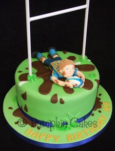 Yummy chocolate mud cake for a rugby player