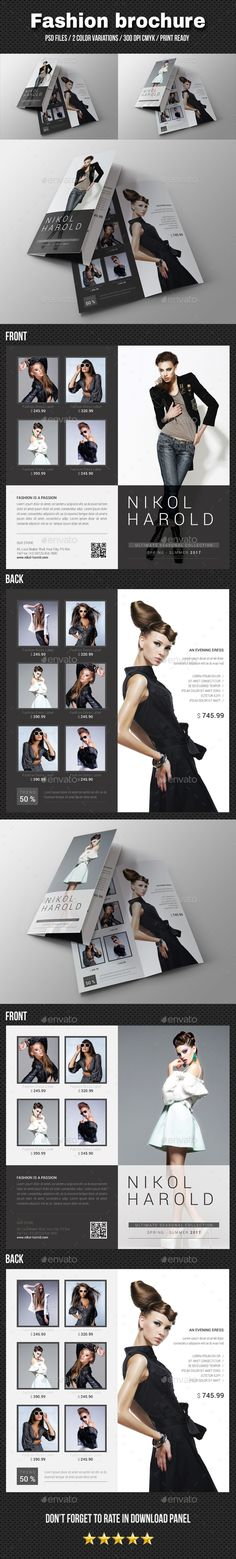 Trifold Bundle Brochures, Brochure template and Templates - fashion design brochure template
