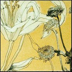 "Helen Gotlib, Detail of ""Flowers from Busch's I, 15"" x 5"", www.helengotlib.com"