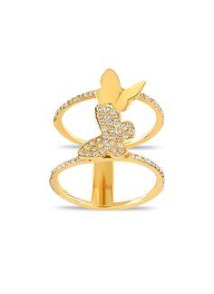 Italian Horn Pendentif 14k solide or Jaune Diamant Cut charme poli classique