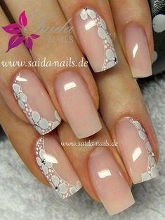 Image IMG 6744 in Beautiful nails album Beautiful Nail Art, Gorgeous Nails, Pretty Nails, Lace Nails, Flower Nails, Hot Nails, Pink Nails, Pretty Nail Designs, Nail Art Designs