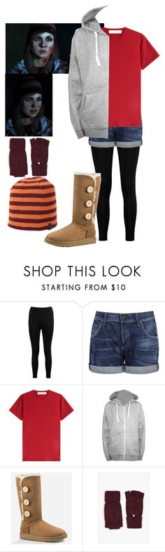 """""""Ashley - Until Dawn"""" by j-j-fandoms ❤ liked on Polyvore featuring Boohoo, Citizens of Humanity, dVb Victoria Beckham, WearAll, UGG, Dorothy Perkins, Original Penguin, horror, videogame and untildawn"""