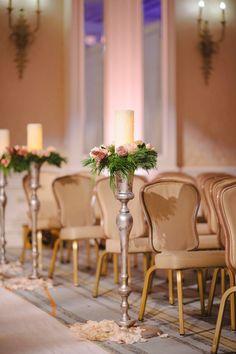 @laurenscruggs + Jason Kennedy Winter Wedding Ceremony Aisle Decor | @toddevents | Photography: @thekatharris @lindseyshea #TheKennedyWedding