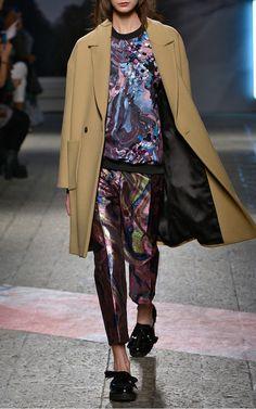 Camel Wool Felt Coat by  for Preorder on Moda Operandi