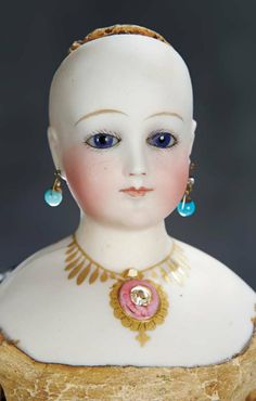 Rare French Bisque Poupee by Edmond Rochard with Stanhope-Jeweled Throat 9000/14,000