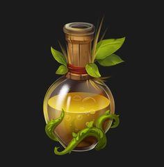 Game art 467952217516370711 - ArtStation – bottle, Evgenia Loginova Source by etiennesavoie 3d Fantasy, Fantasy Weapons, Prop Design, Game Design, Game Concept, Concept Art, Game Art, Bottle Drawing, Magic Bottles