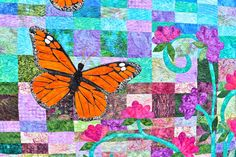 detail Monarch Butterfly Quilt