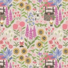 Beautiful Lewis and Irene Fabric. Part of the Grandmas Garden collection.  Inspired by Irene's country garden this range encapsulates blissful childhood memories playing on freshly cut grass and of trees and flowers that would look much smaller now.  Grandmas garden on natural. Featuring an array of beautiful flowers and colours all of which compliment one another perfectly.  Ideal for quilting, home decoration projects and dressmaking.  Available from www.littlemisssewnsew.co.uk