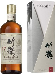 Nikka Taketsuru 17 Year Old Japanese Pure Malt Whisky. Aged for a minimum of 17 years, this was named the World's Best Blended Malt at the World Whiskies Awards in Whiskey Label, Whiskey Brands, Scotch Whiskey, Nikka Whisky, Whisky Single Malt, Tequila Beer, Mixed Drinks Alcohol, Strong Drinks, Japanese Whisky