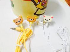 New stereo headphone with microphone Rilakkuma fone de ouvido headset cartoon earphone cute earpods noise isolating auriculares-in Earphones & Headphones from Consumer Electronics on Aliexpress.com | Alibaba Group