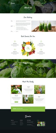 Gamba – Organic Html template is : Gamba is a powerful, modern and creative PSD template, designed for food, organic food… websites. The design is very elegant and modern, and also very ea. Website Design Inspiration, Website Design Layout, Web Layout, Layout Design, Template Web, Html Templates, Website Template, Food Web Design, App Design