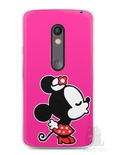 Capa Capinha Moto X Play Mickey e Minnie Beijo