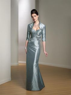 MONTAGE -- Silk Shantung Gown