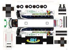 pola papercraftbus Mustika holiday new marcopolo untuk mendapatkan pola resolusi tinggi hubungi fb Susanto Hidayat