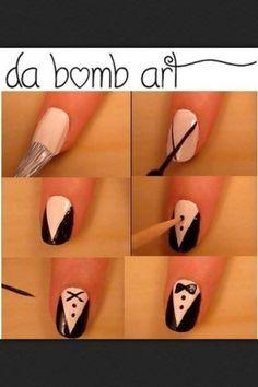 vest and bowtie nails :)