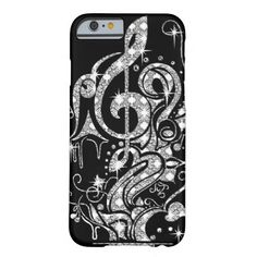 Diamond Bling Music Note Design on Classy Black Barely There iPhone 6 Case Iphone 7 Plus, New Iphone 6, Iphone Cases Cute, Iphone Case Covers, Notes Design, Mobile Covers, Music Notes, Tech Accessories, Fashion Accessories