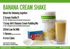 Banana cream shake!