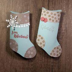 Heute schocke ich euch ein bisschen. Das erste weihnachtliche Projekt liegt auf meinem Tisch. Aber keine Angst ich wollte nur meine neuen Sachen von stampin' up! ausprobieren. Ist der Nikolausstiefel nicht niedlich? Und man kann ihn nicht nur für Weihnachten benutzen. Today i shock you. The first x-mas project is finished. The boots are cute! My favorite x-mas product. gut geschmückt, nikokaus, stiefel, stempel, stamps, thinlits, x-mas, weihnachten, geburtstag, gutschein, verpackung, basteln