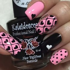 """Heart Nails! - - By: @yagala - - #nailart #nailvideos #nails #nailpolish #nailtutorials #nailsart #nailsartvideos #nailartvideos #video #nailartvideo…"""
