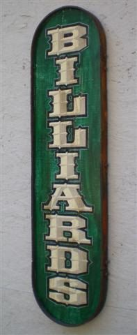 Vintage Style Billiards Sign