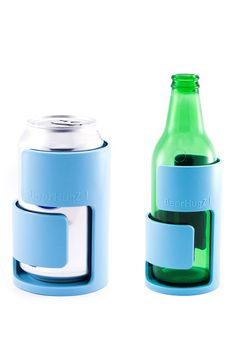 Beer Hugz Cozy - has foam insulation and plastic exterior that keeps your brew cool, while the base acts like a built-in coaster.
